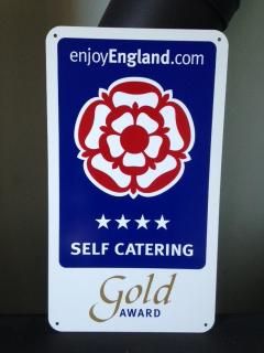 We are proud of our 4 Star Gold Award status from Visit England.