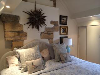 Super king size beds in both bedrooms . This is bedroom 2 with an en-suite walk in shower in.