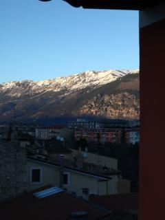 Veduta Terrazzo Monte Morrone Tramonto