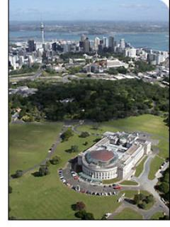 An aerial view of the park and the proximity to Auckland City. Close but not too close.