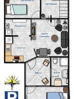 Plano del apartamento Casa Charo