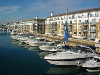 Water views from this South facing Brighton apartment with FREE parking