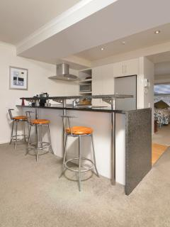 Social and well provisioned kitchen
