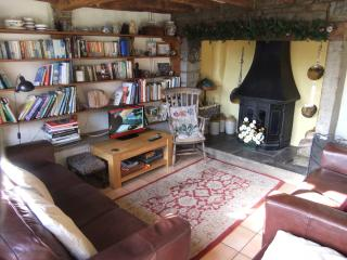 Cosy and warm even without a fire. Plenty of books and games to enjoy