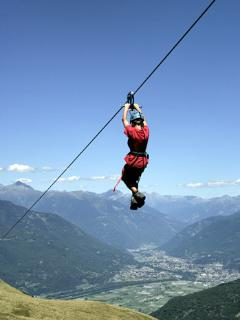 hanging over the Alps!