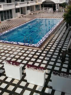 Our Beautiful Pool that is long enough to use as a Lap Pool every Day. We Do ... :)