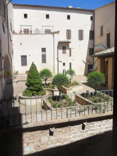 View of the private courtyard from the kitchen window