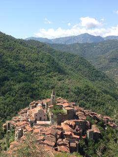 Apricale seen from above