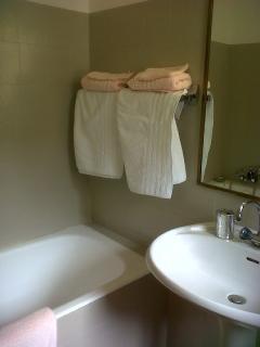 salle de bain lin