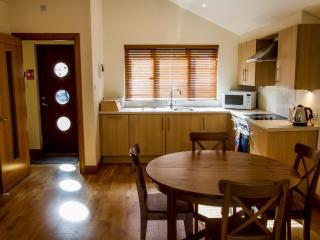 Fully equipped Kitchen with oven, 4-ring hob, Dishwasher and Washing Machine/Dryer