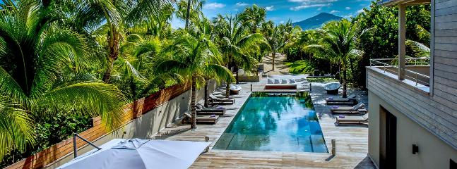Villa K AVAILABLE CHRISTMAS & NEW YEARS: St. Barths Villa 31 A Large Exotic Wood Deck Finishes With The Foot Of A Sand Path Leading At The Beach., Anse des Cayes