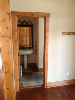 Half bathroom on main living level