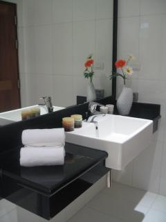 shower and toilet inside the 2 of the bedrooms and at the living area level