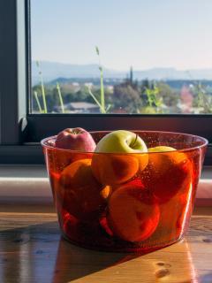 Fresh fruits, beautiful view!
