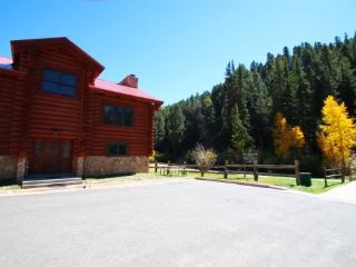 101 River Lodge - Large Log Cabin on the River, In Town, Ski In/ Ski Out, King Beds, Washer/Dryer, Red River