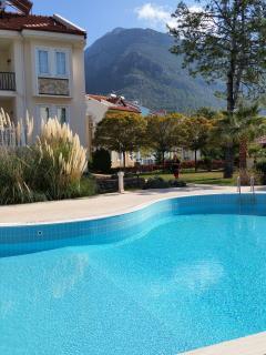 Beautiful pool side views of Babadag Mountain