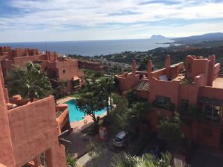 Stunning views of Sotogrande port, rock of Gibraltar and coastline of Morocco