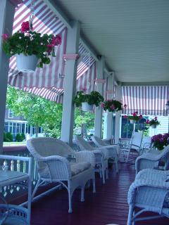 Enjoy sitting on the large covered front porch.  Horse and buggy passing by daily.