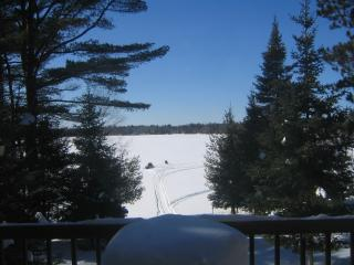 Winter view from the Lodge - Snowmobile or Ice Fishing just steps away