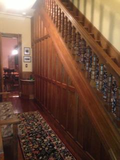 Main staircase from the first to second floors.