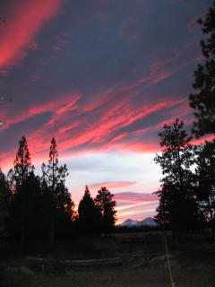Great sunsets are common in Bend.  This picture was taken from the front deck