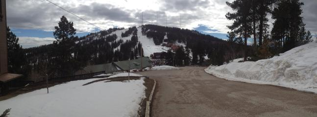Terry Peak Ski Area as seen from Barefoot Resort in Winter