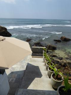 Steps down to Swimming Pool - Thambilli Beach House