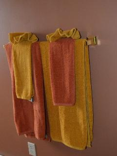Towels provided - guest bath