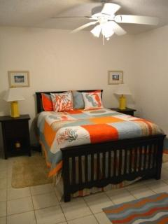 Beutiful full size wood bed in 2nd bedroom