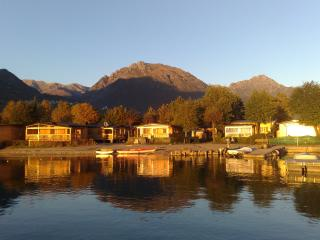 Two chalets Baleno Sicure from the lake