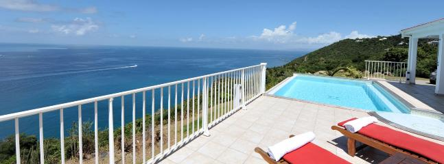 SPECIAL OFFER: St. Barths Villa 124 Located On The Heights Of Colombier, On The Sunset Side, It Has A Stunning Ocean View Over The Caribbean., Anse des Flamands