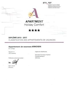 Suite Armoisin Swiss certification ****