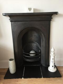 Fire surround in period property, but no chimney for fires!