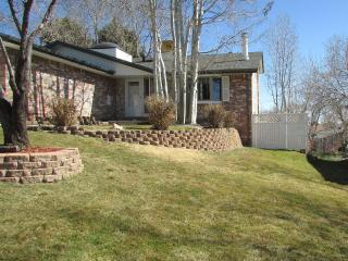 Cozy up to a wood fireplace, sit on Master deck and listen to the pond below, Arvada