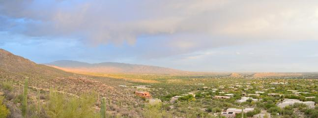 View to south east from the deck and great room. Santa Rita mountains in distance