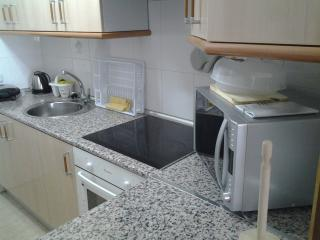 fully fitted kitchen washer microwave full fridge freezer  oven and hob