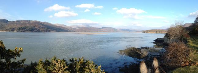 View from horseback along the Mawddach Estuary