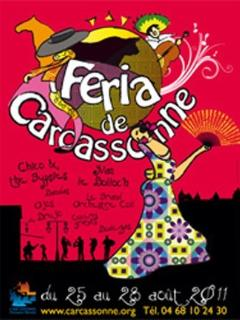 Carcassonne's festival from july 6th to august first and Féria at the end of august