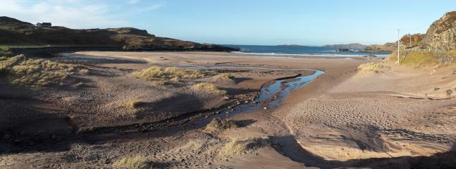 Clashnessie beach is about 2 miles from Stoer Villa
