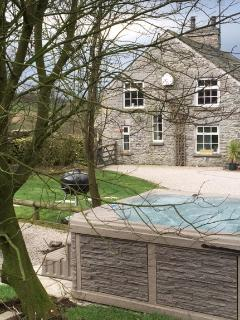March 2015 - view of cottage from hot tub