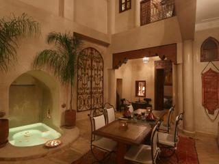 Riad Jaune Safran luxury private riad and pool, Marrakech