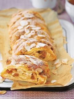 Apple strudel with vanilla cream in our summer offer