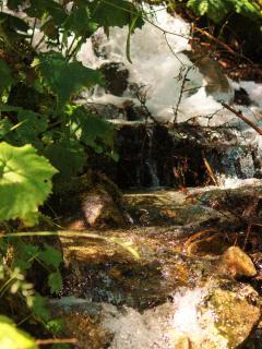 Waterfall in village
