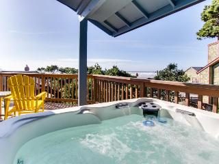 Oceanview home with a private hot tub & deck - one dog welcome!