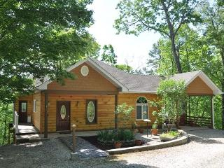 Ridge Runner Retreat Lovely Log Rental Less than 10 Minutes from Fontana Lake and Almond Marina with Wi-Fi, Hot Tub, and 2 Gas Fireplaces, Bryson City