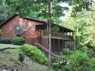 Greens Creek Fishing Retreat - Mountain - Creek Front Rental with Sparkling Hot Tub - 10 Minutes from Rafting, Sylva