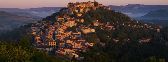 The medieval city of Cordes-Sur-Ciel is a short and scenic drive away.
