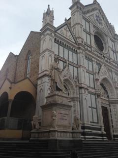 The statue of Dante in Santa Croce Square