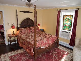 Hawksbill Suite Bedroom is a wonderful place to relax after a full day hiking.