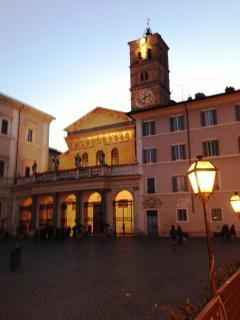 Piazza S. Maria in Trastevere a street in Trastevere